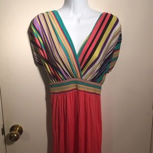 Perfect Pink Blush Maternity Summer Maxi Dress